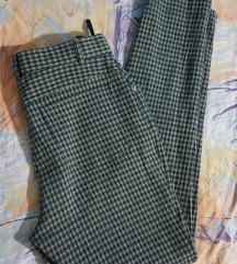 Fashionates maslinaste karirane pantalone L
