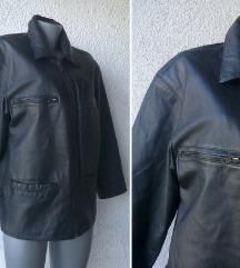 kožna crna jakna broj 38 ili 40