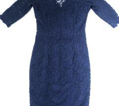 Teget elegantna čipkana haljina