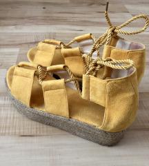 Žute letnje sandalice - AKCIJA 🍋