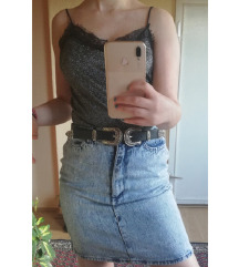 High waist suknja