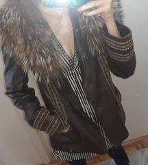 Kozna jakna sa krznom rakuna Suprema