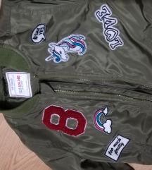 Maslinasta bomber jakna