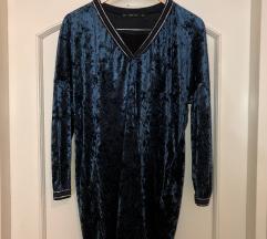 Plava kratka haljina NENOSENA
