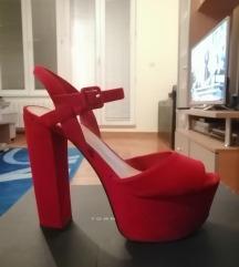 Crvene sandale - platforma