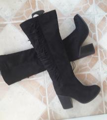 TELLY WEIJL crne duboke cizme sa etiketom 39/25cm