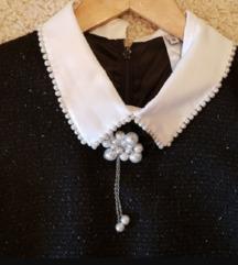 Crno srebrna Chanel haljina%%%
