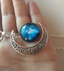 Ogrlica mesec Plava