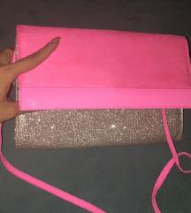 H&M pink glitter torbica