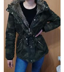 H&M Zimska jakna-parka strukirana