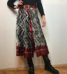 Zara svilena suknja