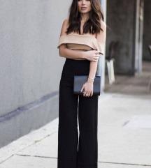 Rezz Crne široke pantalone NOVO UNI VEL 😊