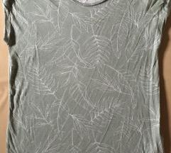 H&M zelena majica sa printom