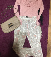 H&M zenske pantalone sarene
