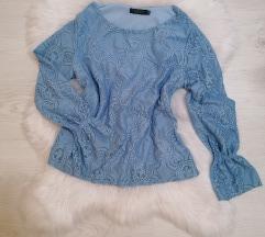 Plava bluza cipka