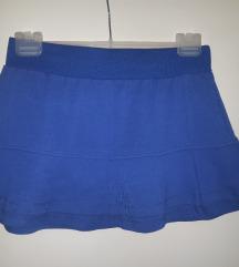 Plava pamučna suknjica 300din