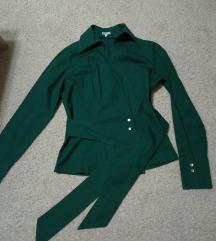 Azzaro zelena košulja zanimljivog kroja