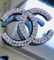 Chanel bros sa srebnim cirkonima 6x5,8cm