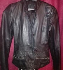 Crna jakna od prave kože 2000