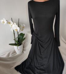 Interesantna crna duga haljina vel L