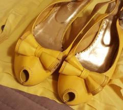 Žute sandale kožne - NOVO