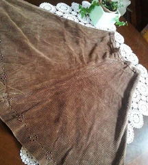 Vintage unikatna suknja  od debljeg somota