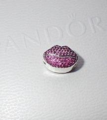 Pandora Lipstick Usne privezak srebro s925