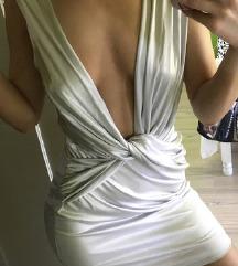 Srebrna vecernja haljina NOVA sa et.
