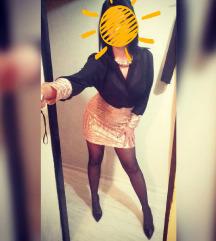 Zlatno crna haljina