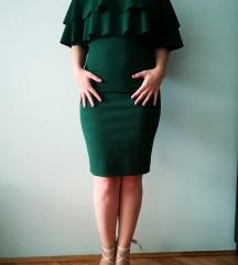 Zelena haljina sa karnerima SNIZENO