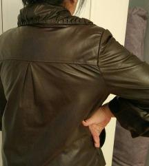 Kozna braon jakna