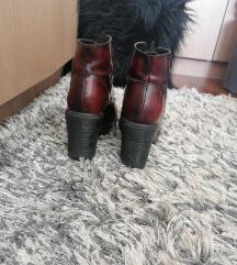 Bordo kozne cizme