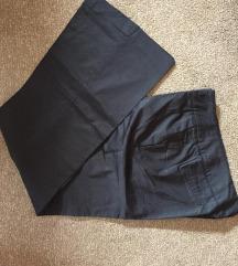 Teget Koton pantalone na ivicu