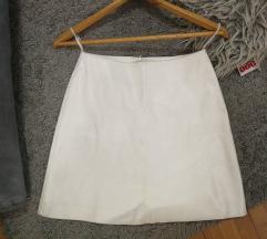 Kozna bela suknja