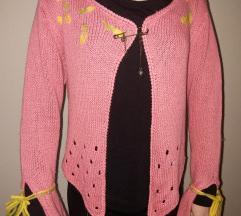 Ružičasti džemperić/mini pončo