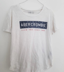 Abercrombie and Fitch bela majica sa natpisom