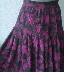 suknja svilena šivena po meri br36 ili 38