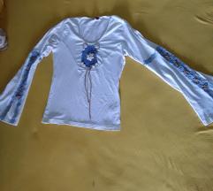 Pamucna bluza Oximox S-M sa vezom i skoljkama