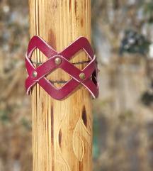 Kožna narukvica-ogrlica Cage (Prirodna koža)