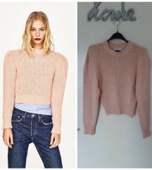 NOV puff ZARA knit crop dzemper
