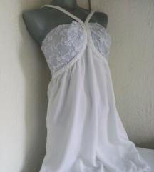 Bela viskozna haljina S/M