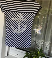 Mornarski stil majica sa elastinom