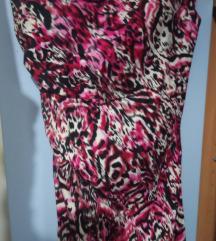 Roze haljina sa printom