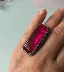 prsten PINK TOPAZ