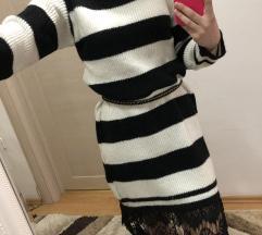 Zimska crno bela haljina