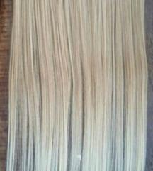 Plava kosa na klipse
