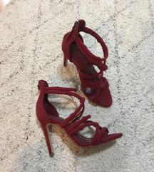 SNIŽENJE Zara bordo sandale 37
