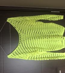 Fluorescentno zuta rupicasta majica
