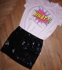 Crna suknja sa krljustima