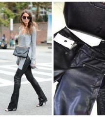 Kozne crne pantalone 36